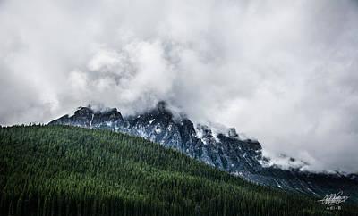 Digital Art - Mt Chephern Engulfed In Clouds by Adnan Bhatti