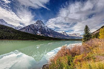 Photograph - Mt Chephren Reflection by Pierre Leclerc Photography