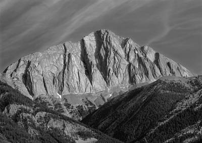Photograph - 1m3954-mt. Colin Bw  by Ed  Cooper Photography