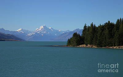 Photograph - Mt Cook on our Blue Planet - New Zealand  by Julian Wicksteed
