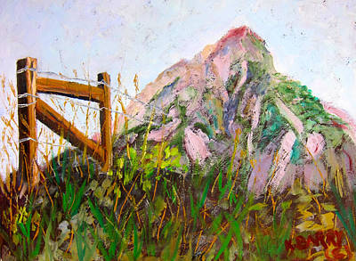 Mt. Crested Butte And Fence Art Print