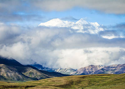Photograph - Mt Denali In The Clouds by Joni Eskridge