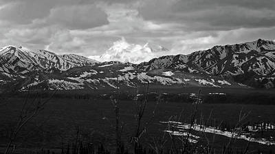 Photograph - Mt. Denali View 2  Black And White by Judy Wanamaker