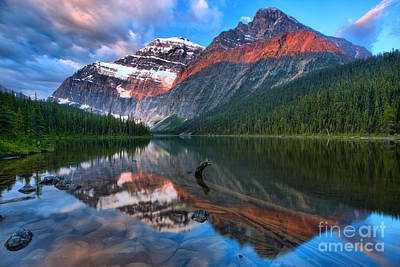 Photograph - Mt. Edith Cavell Sunrise by Adam Jewell