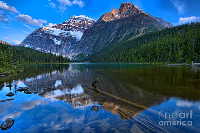 Photograph - Mt. Edith Cavell Sunset by Adam Jewell