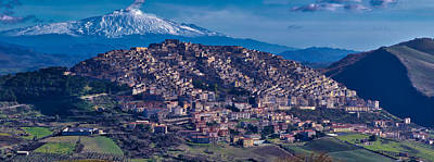 Photograph - Mt. Etna And Gangi by Richard Gehlbach