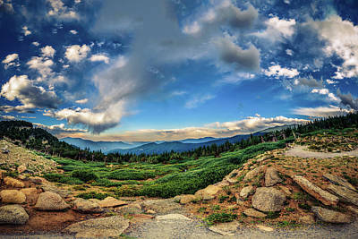 Photograph - Mt. Evans Alpine Vista by Chris Bordeleau