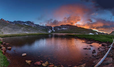 Photograph - Mt. Evans Summit Lake Twilight by Chris Bordeleau