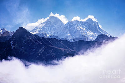 Photograph - Mt. Everest Above The Clouds by Scott Kemper