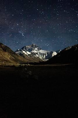 Mt Everest At Night Art Print by Gaurav Agrawal