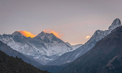 Wall Art - Photograph - Mt Everest In The Morning by Adrian O Brien