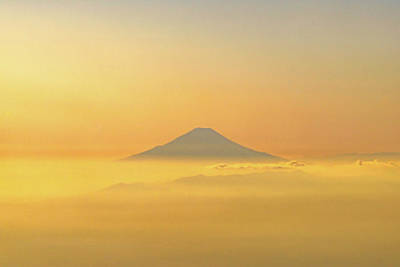 Mt. Fuji Above A Sea Of Clouds Art Print by Ellie Teramoto