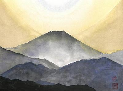 Painting - Mt. Fuji At Sunrise by Terri Harris