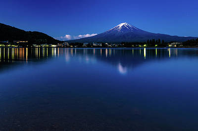 Photograph - Mt Fuji - Blue Hour by Craig Szymanski