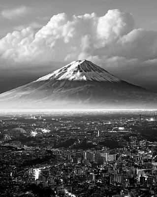 Photograph - Mt. Fuji Urban by Daniel Hagerman