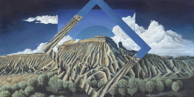Mt. Garfield Polyscape Art Print by LE Williams
