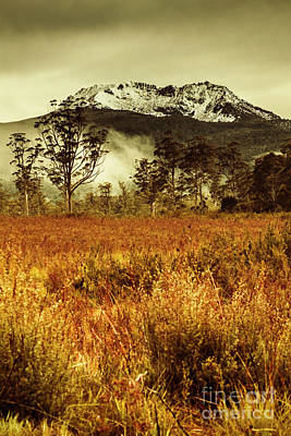 Mt Gell. Tasmania National Park Of Franklin Gordon Print by Jorgo Photography - Wall Art Gallery