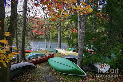 Mt. Gretna Canoes Art Print