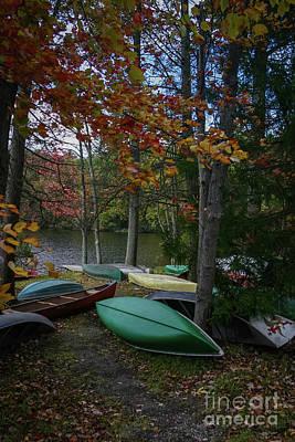 Mt. Gretna Canoes In Fall Art Print