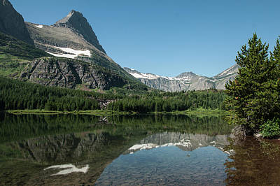 Photograph - Mt. Grinnell Across Red Rock Lake Glacier National Park by NaturesPix