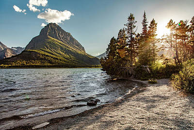 Photograph - Mt Grinnell Sunset by John McGraw