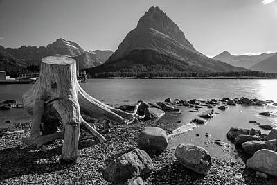 Photograph - Mt Grinnell With Swift Current Lake  by John McGraw
