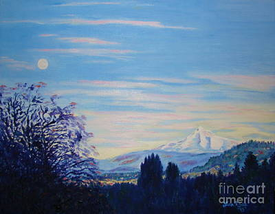 Painting - Mt Hood A View From Gresham by Lisa Rose Musselwhite