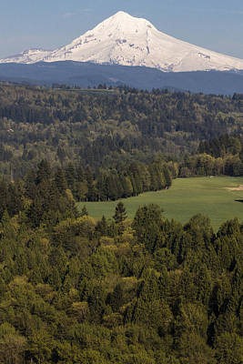 Photograph - Mt Hood And Landscape 2 by John McGraw