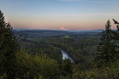 Photograph - Mt Hood At Sunset In Spring by John McGraw
