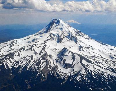 Mt. Hood From 10,000 Feet Art Print