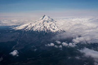 Photograph - Mt Hood From 737 by Robert Potts