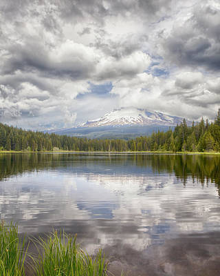 Mt Hood From Trilliam Lake Art Print by Harold Rau