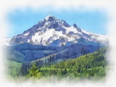 Mt Hood Digital Art - Mt. Hood In All Her Glory by Kim Nielsen