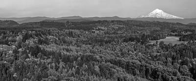 Photograph - Mt Hood In Black And White  by John McGraw