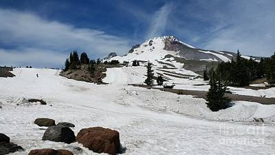 Photograph - Mt. Hood In June by Theresa Willingham