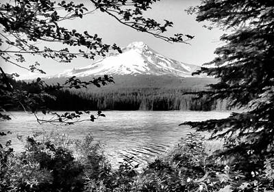 Photograph - Mt Hood In Oregon Bw II by Athena Mckinzie