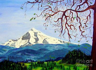 Painting - Mt Hood In Winter by Lisa Rose Musselwhite