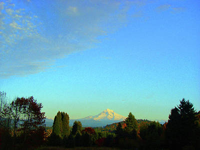 Mt Hood Just Before Sunset Art Print