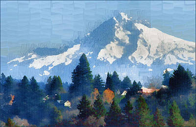 Mt. Hood  Art Print by Margaret Hood
