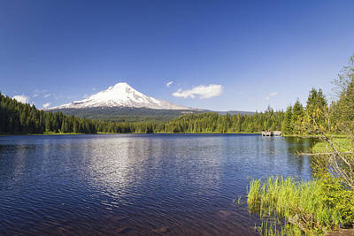 Photograph - Mt. Hood On Trillium Lake by Chris Reed