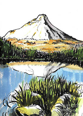 Painting - Mt. Hood Oregon by Terry Banderas