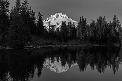 Photograph - Mt. Hood Reflection In Mirror Lake, Oregon by Prithvi Mandava