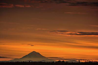 Photograph - Mt. Hood Sunrise by Don Schwartz