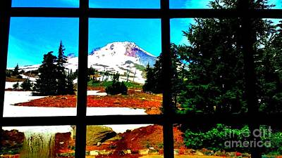 Digital Art - Mt. Hood View by Theresa Willingham