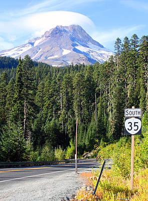 Mt Hood Digital Art - Mt. Hood With Lenticular Cloud by Margaret Hood