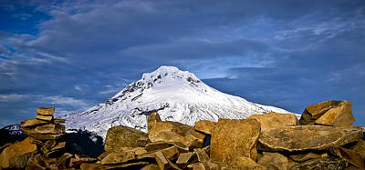 Photograph - Mt Hood With Talus by Albert Seger