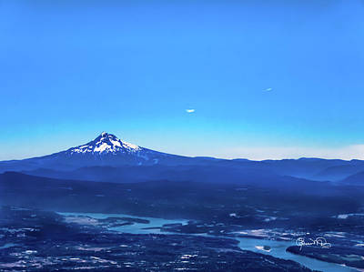 Photograph - Mt. Hood With The Columbia River by Susan Molnar