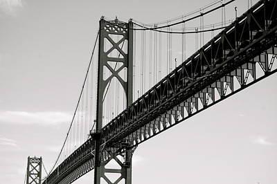 Mount Hope Photograph - Mt. Hope Bridge by Erica Laucella