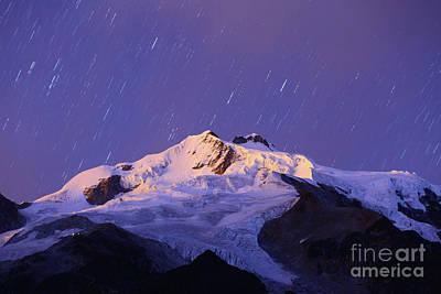 Photograph - Mt Huayna Potosi Dawn Twilight Bolivia by James Brunker