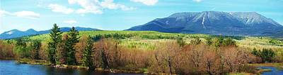 Mt Katahdin From Abol Bridge Art Print by Tim  Canwell